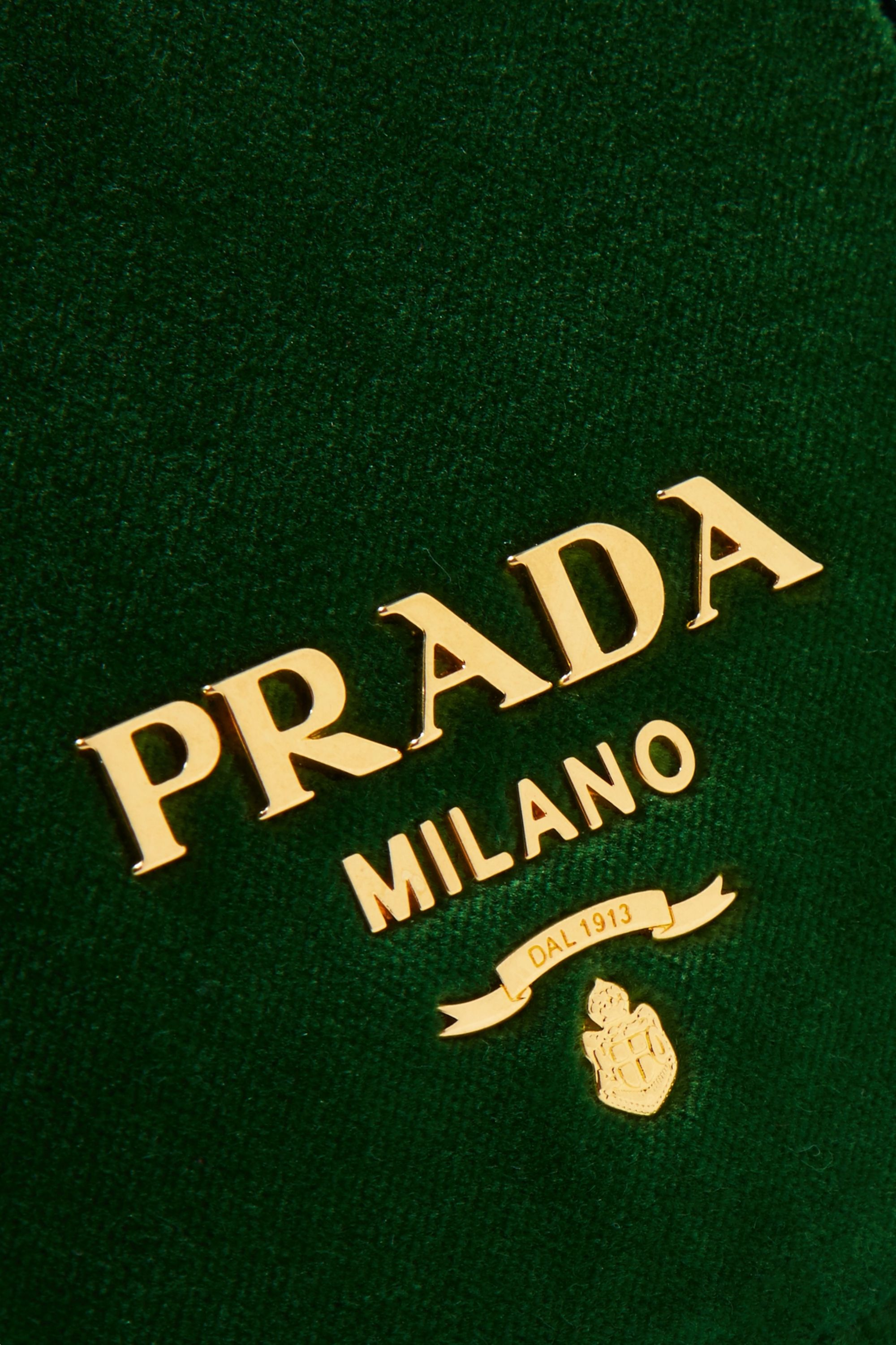 Prada Pattina velvet shoulder bag
