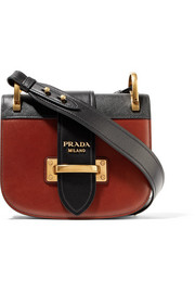 Pionnière two-tone leather shoulder bag