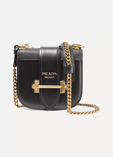 3cbdee4a3a09 Prada. Pionnière leather shoulder bag