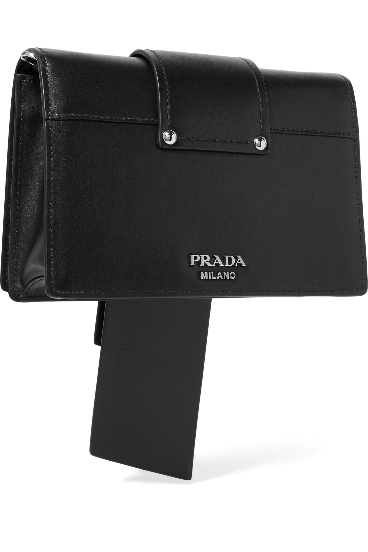 Prada Ribbon Plexi leather shoulder bag