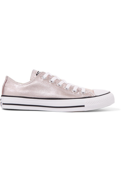 Chuck Taylor All Star metallic coated-canvas sneakers
