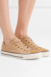 Chuck Taylor All Star '70 pony hair-trimmed suede sneakers