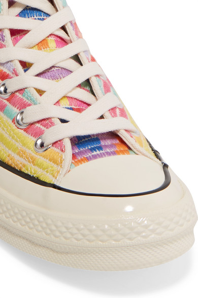 fa1ad006983b Converse. + Mara Hoffman Chuck Taylor All Star  70 embroidered canvas high-top  sneakers.  75. Zoom In