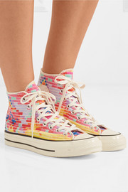 + Mara Hoffman Chuck Taylor All Star '70 embroidered canvas high-top sneakers