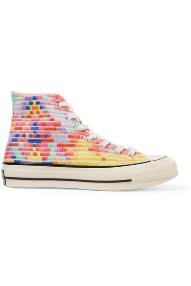 d025ecb8a3ef Converse. + Mara Hoffman Chuck Taylor All Star  70 embroidered canvas high-top  sneakers
