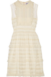 REDValentino Ruffled point d'esprit tulle mini dress