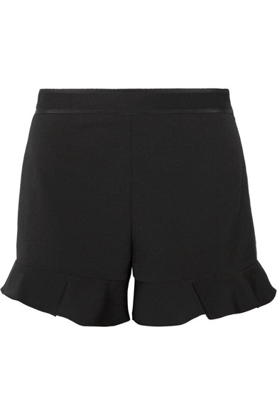 REDValentino - Ruffled Cady Shorts - Black