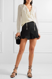 Ruffled cady shorts