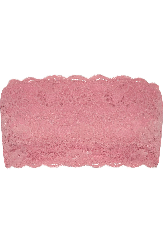 Cosabella Flirtie stretch cotton-blend lace bandeau bra