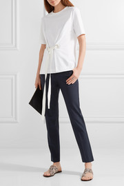Theory Testra wool-blend crepe slim-leg pants
