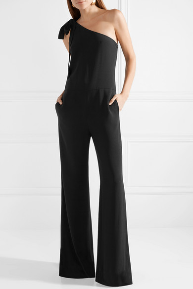 37fccea25f9a Theory. Eilidh one-shoulder crepe jumpsuit