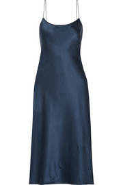Theory Telson silk-satin dress