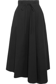Jaberdina cotton-blend poplin midi skirt