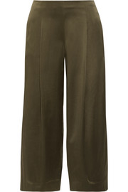 Theory Zavabell silk-satin wide-leg pants