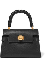 Miu Click textured-leather tote