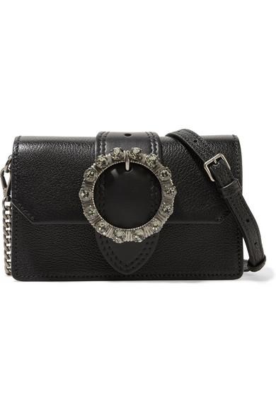 49ec734b6322 Miu Miu. Miu Lady embellished smooth and textured-leather shoulder bag