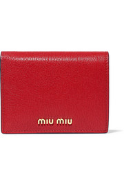 Miu Miu Textured-leather wallet