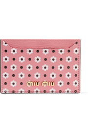 Miu Miu Printed textured-leather cardholder