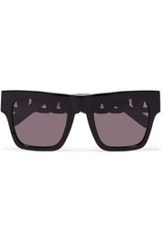 Stella McCartney Oversized square-frame acetate and gold-tone sunglasses