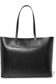 TOM FORD T small textured-leather tote