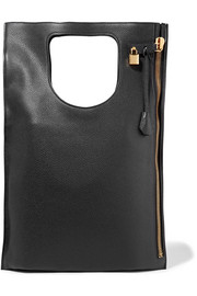 Alix medium textured-leather tote
