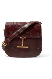 TOM FORD Tara small python shoulder bag
