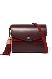 Elizabeth and James Eloise leather and suede shoulder bag
