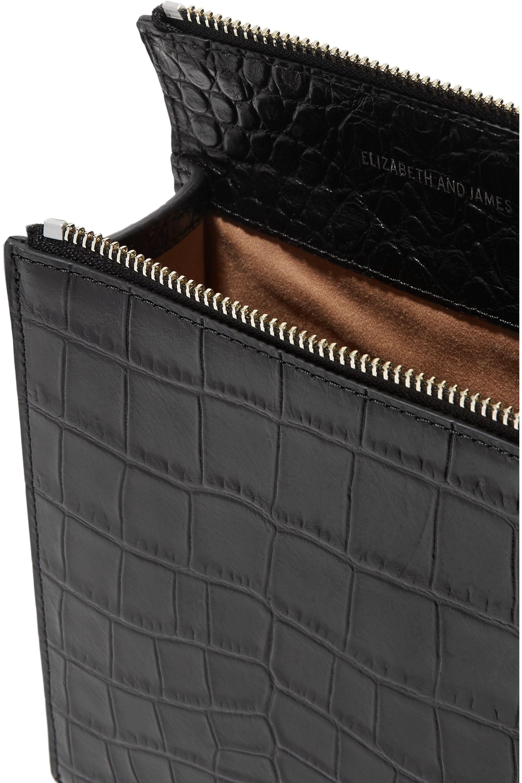Elizabeth and James Sara croc-effect leather shoulder bag