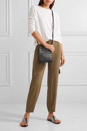 Elizabeth and James Sara croc-effect leather shoulder bag