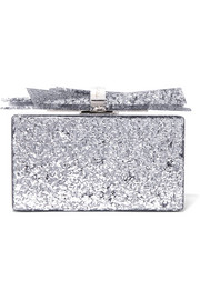 Wolf glittered acrylic box clutch