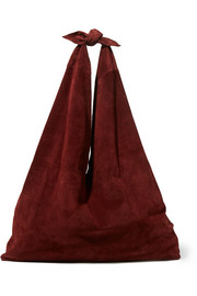 The Row Bindle Schultertasche aus Veloursleder