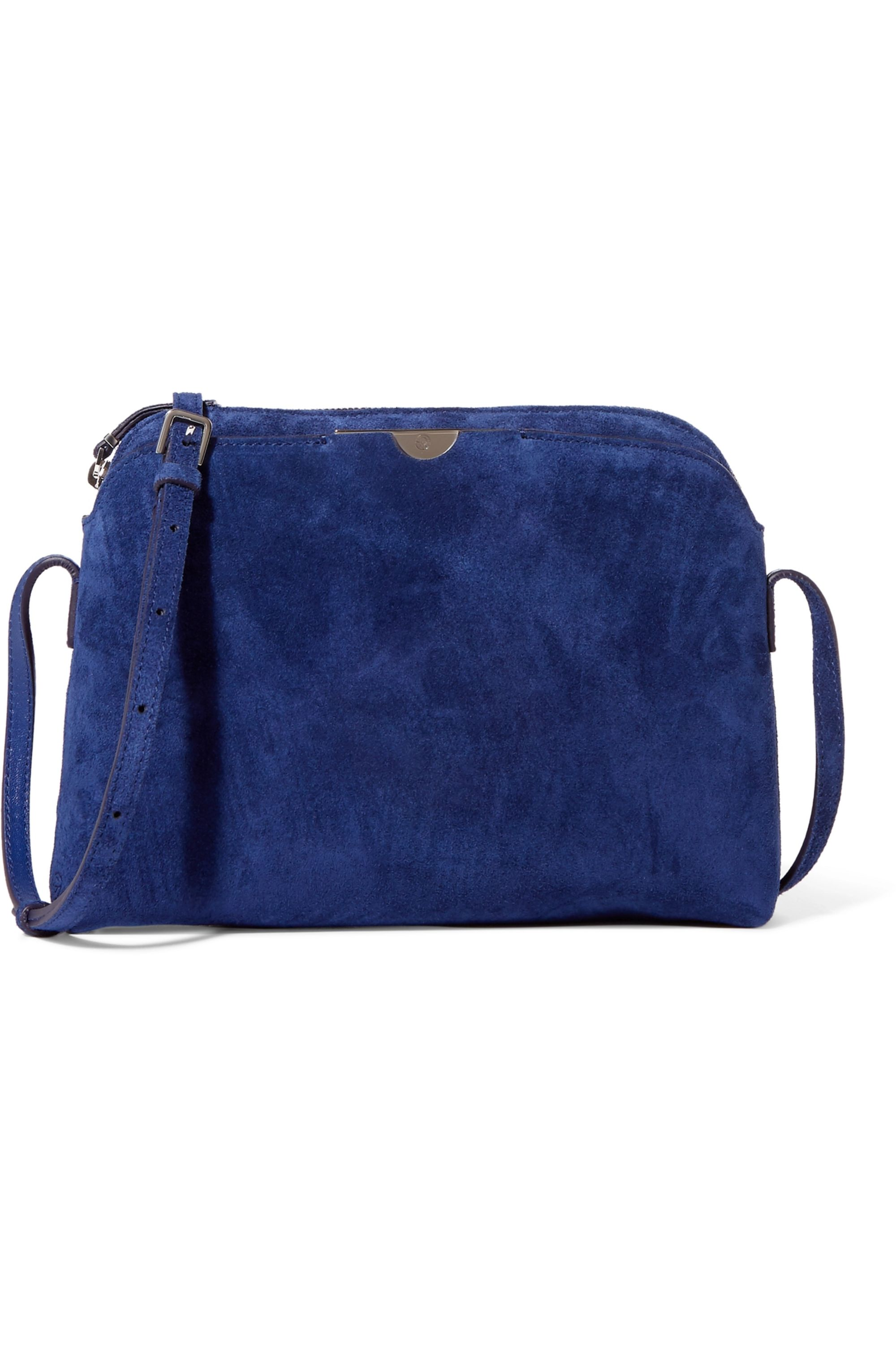 The Row Multi Pouch suede shoulder bag