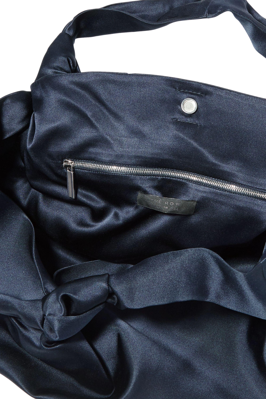The Row Ascot medium silk-satin tote