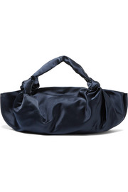 The Row Ascot medium silk-satin tote
