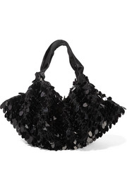 The Row Ascot sequined crochet-knit shoulder bag