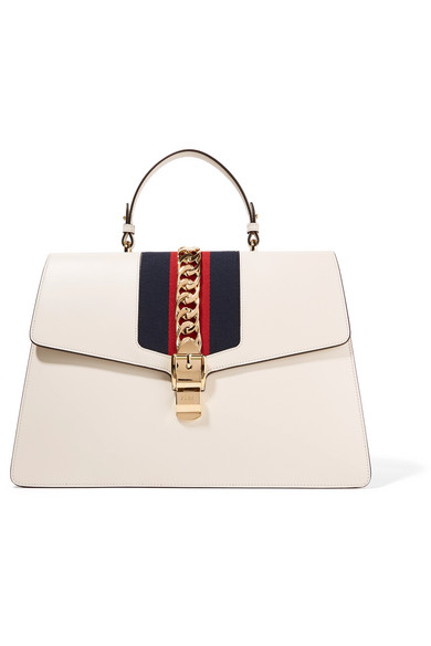 334dafd51ab676 Gucci | Sylvie large chain-embellished leather tote | NET-A-PORTER.COM