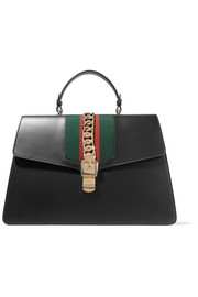 Gucci Sylvie large chain-embellished leather tote