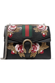 Gucci Dionysus medium appliquéd textured-leather shoulder bag