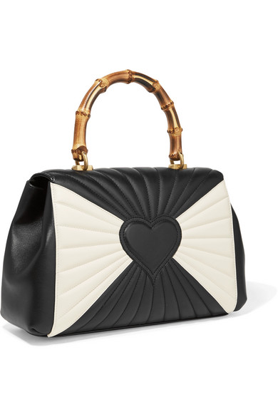 Gucci Queen Margaret Bamboo Tote aus gestepptem Leder Besonders Rabatt-Spielraum Store Für Schöne Online EQ3MC
