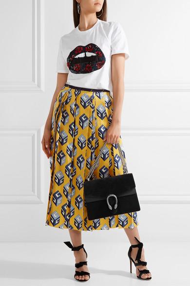 04e14417a154 Gucci | Dionysus medium suede and leather shoulder bag | NET-A ...