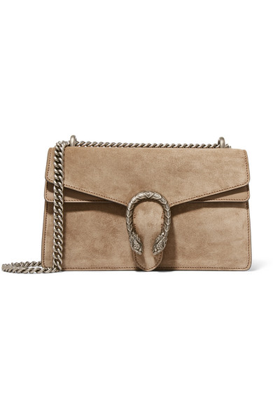 f9bd1257df02 Gucci. Dionysus small suede and leather shoulder bag