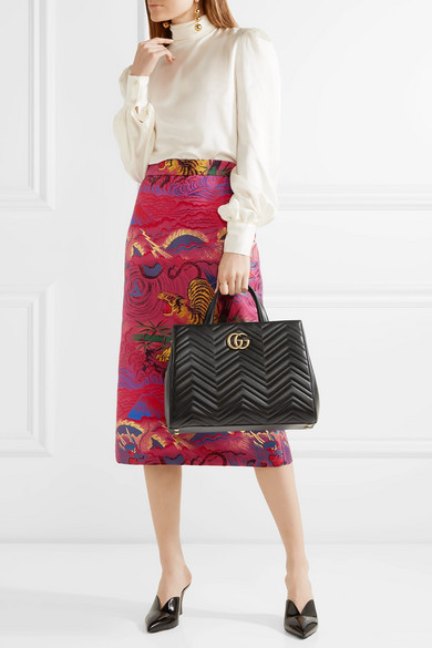 5b371f489 Gucci | GG Marmont medium quilted leather tote | NET-A-PORTER.COM