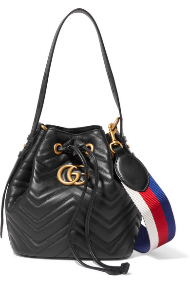 918635c203a Gucci. GG Marmont quilted leather bucket bag