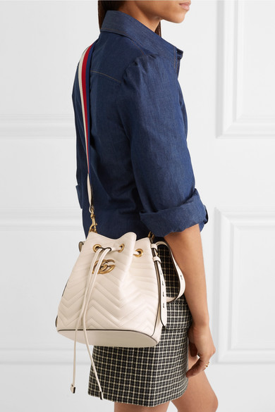 0017af7da64 Gucci. GG Marmont quilted leather bucket bag.  2