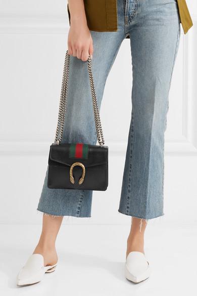 4e38782cd1a Gucci. Dionysus mini textured-leather shoulder bag. £1