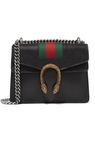 796efc9bfee6 Gucci | Dionysus mini textured-leather shoulder bag | NET-A-PORTER.COM
