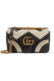 GG Marmont mini two-tone quilted leather shoulder bag