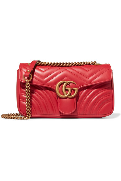 0ba8c19e7d1a Gucci | GG Marmont small quilted leather shoulder bag | NET-A-PORTER.COM
