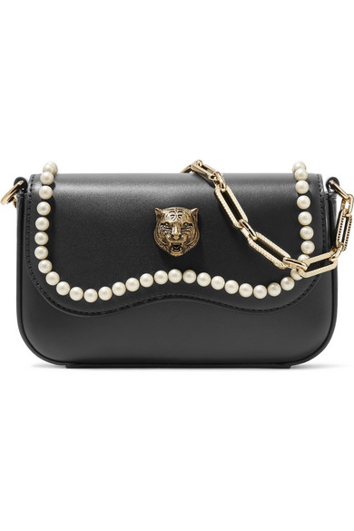 Gucci. Broadway mini embellished leather shoulder bag b6d6cfe4a2a9a