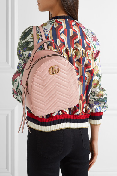 1ff464aaff GG Marmont quilted leather backpack.  1